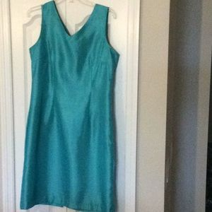 Aqua shift dress